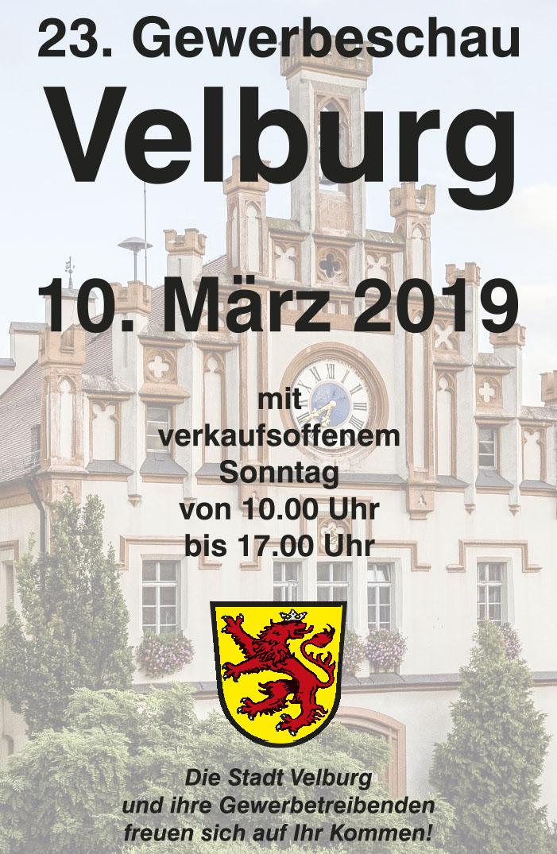 23. GEWERBESCHAU VELBURG mit Landmaschinenausstellung und Verkaufsoffenem Sonntag
