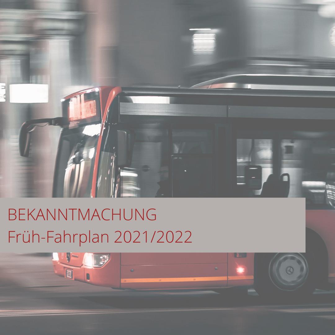 Schulbusfahrpläne Schuljahr 2021/2022