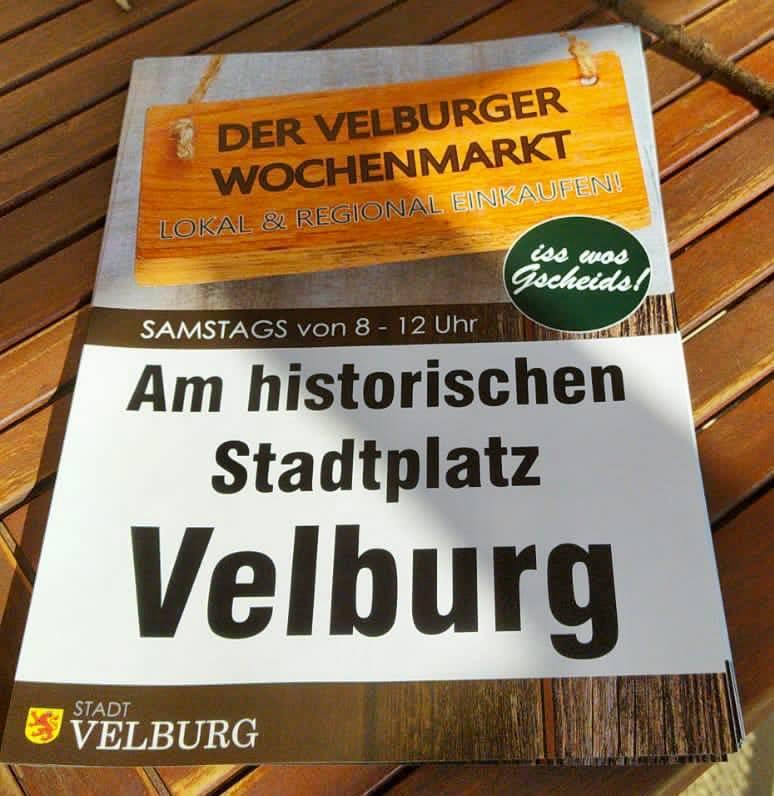 Verschiebung Velburger Wochenmarkt